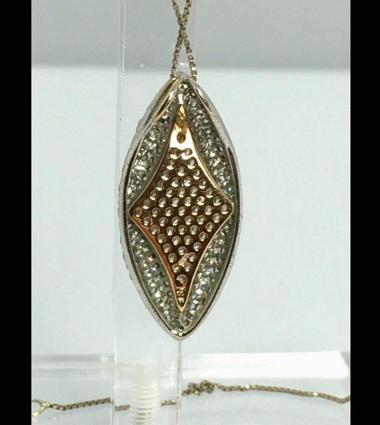 Art Nouveau Antique Style Diamond Pendant Gold For Sale