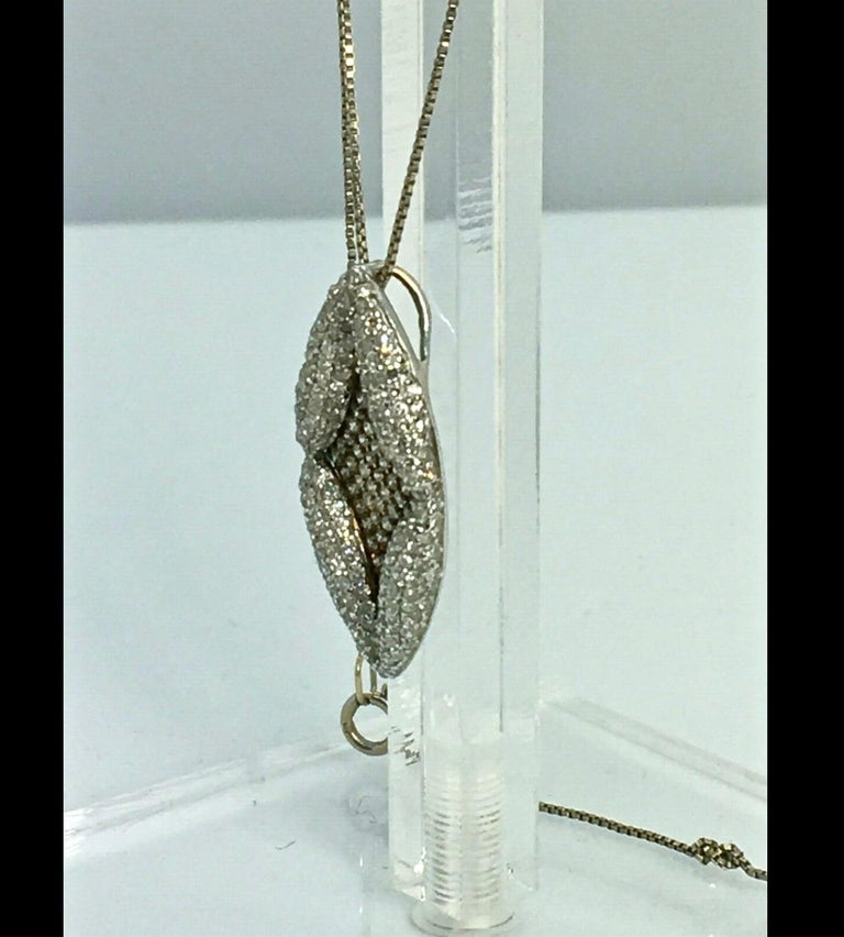 Antique Style Diamond Pendant Gold In Excellent Condition For Sale In Brunswick, ME