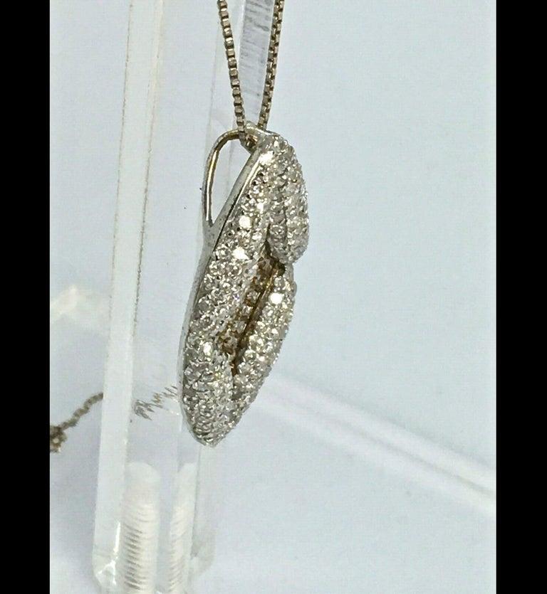 Women's Antique Style Diamond Pendant Gold For Sale