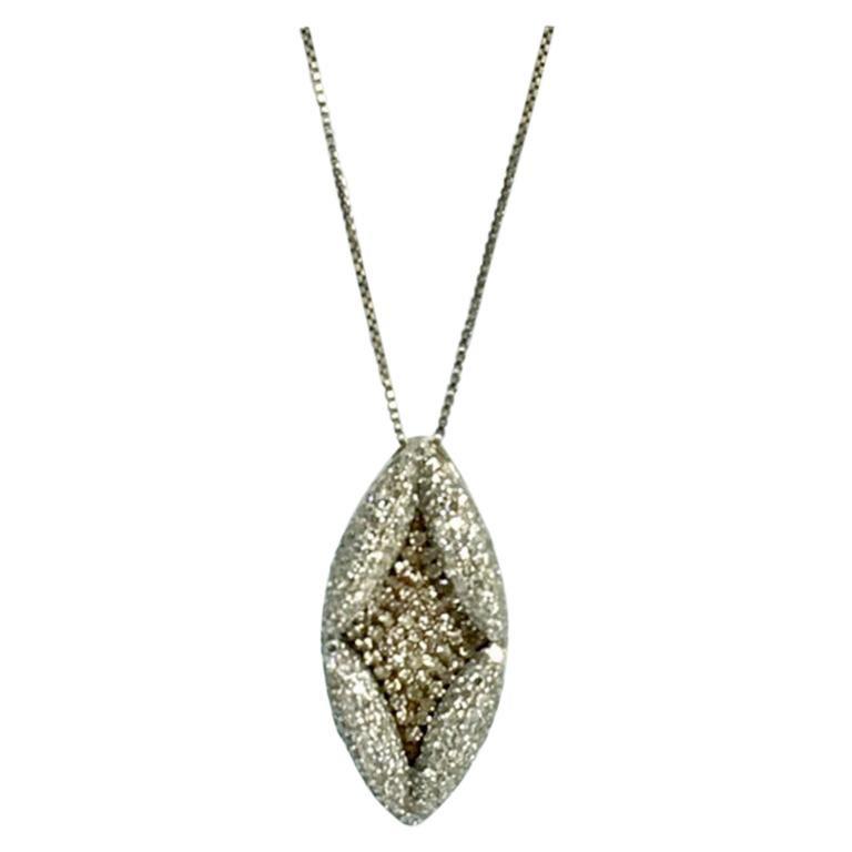 Antique Style Diamond Pendant Gold For Sale
