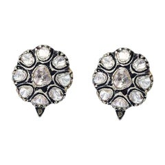 Antique Style Diamond Stud Earrings