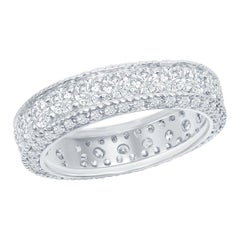 Antique Style Eternity Ring 3.50 Carat