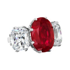 Designer Antique Style Faux Pigeon Blood Ruby Cushion Cut CZ Sterling Ring