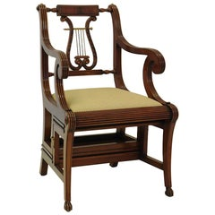 Antique Style Lyra Staircase Chair