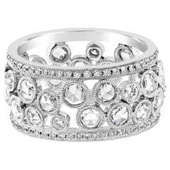Roman Malakov Antique Style Open-Work Diamond Fashion Ring