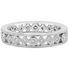 Antique Style Round Diamond Fashion Ring