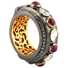 Antique Style Ruby Diamond Ring