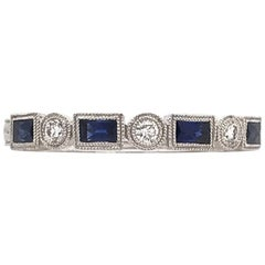 Antique Style Sapphire and Diamond Band