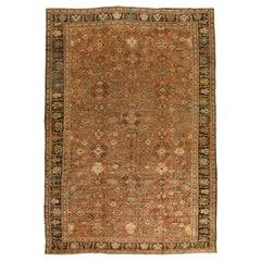 Antique Sultanabad Brown Rug