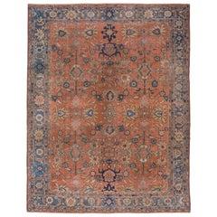 Antique Sultanabad Carpet, Soft Palette, circa 1910s