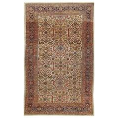 Antique Sultanabad Rug Carpet, circa 1890