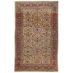 Antique Sultanabad Rug Carpet, circa 1890  8'4 x 13'4