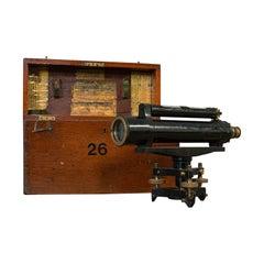 Antique Surveyor's Level, English, Brass, Scientific Instrument, Halden & Sons