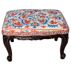 Antique Suzani Foot Stool
