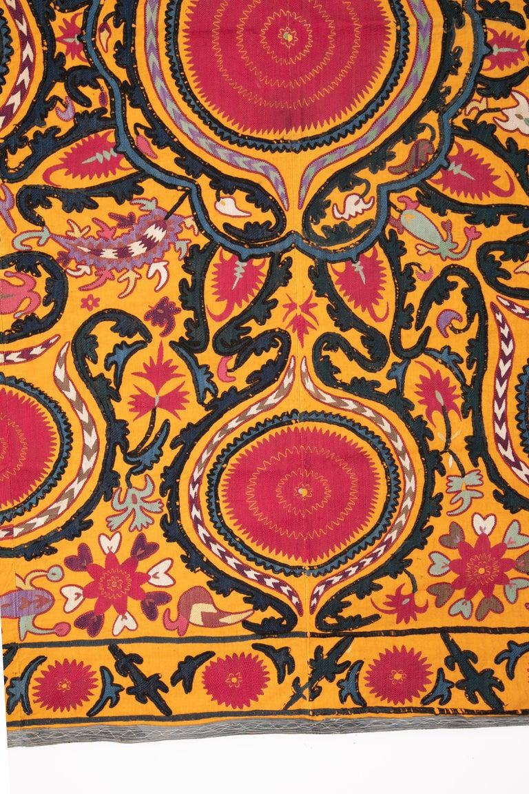Islamic Antique Suzani from Djizak, Uzbekistan, Central Asia, Late 19th C For Sale