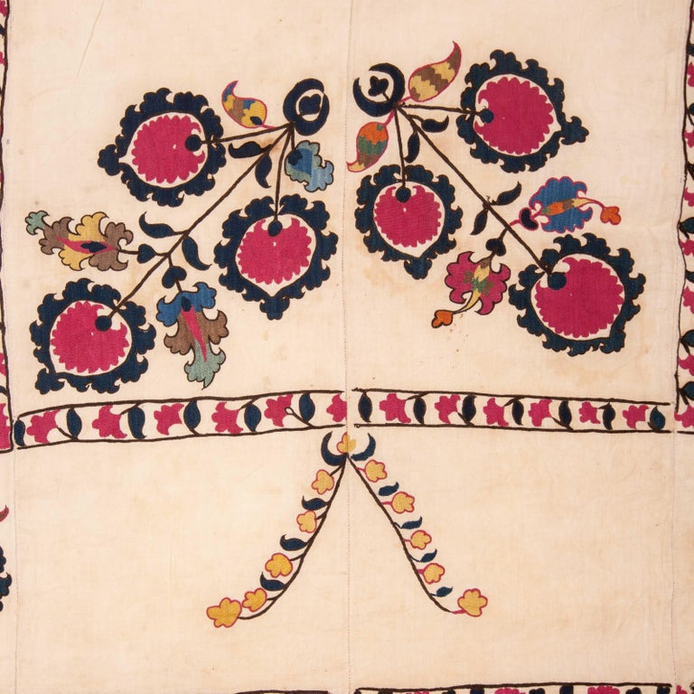 Hand-Woven Antique Suzani from Tashkent Uzbekistan, 19th Century For Sale