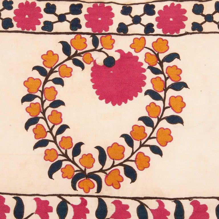 Cotton Antique Suzani from Tashkent Uzbekistan, 19th Century For Sale