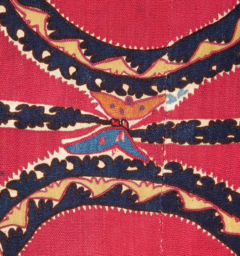 Embroidered Antique Suzani from Tashkent, Uzbekistan, Late 19th Century For Sale