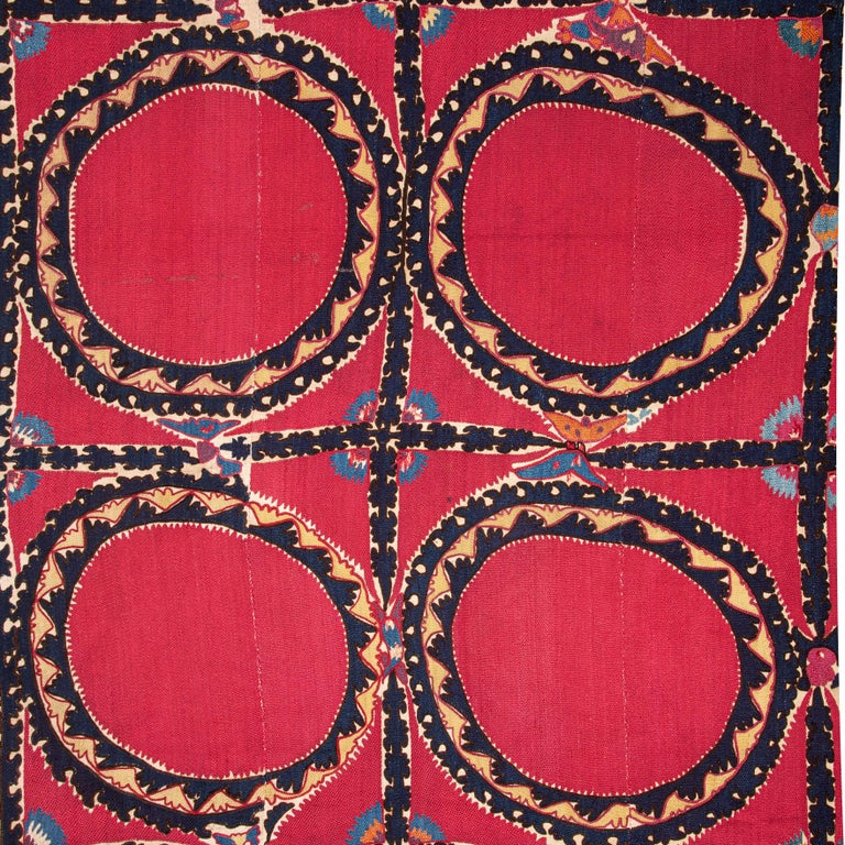 Antique Suzani from Tashkent, Uzbekistan, Late 19th Century For Sale 1