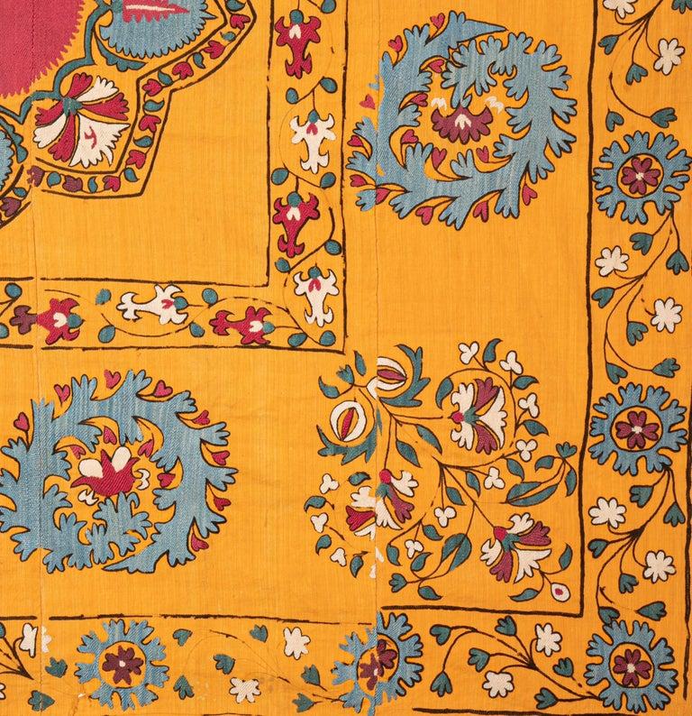 Antique Suzani from Tashkent Uzbekistan, Late 19th Century For Sale 3