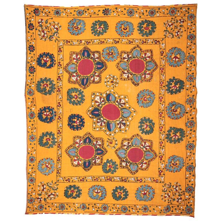 Antique Suzani from Tashkent Uzbekistan, Late 19th Century For Sale