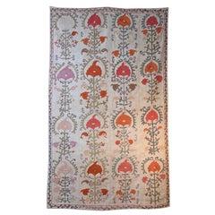 Antique Suzani Panel Wall Hanging