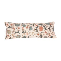 Antique Suzani Pillow Case Fashioned from a 19th Century Suzani
