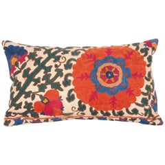 Antique Suzani Pillow Case Fashioned from a Mid-19th Century Suzani