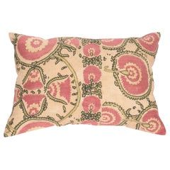 Antique Suzani Pillow Case Fashioned from a Mid-19th Century Tajik Suzani