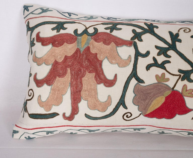Antique Suzani Pillow Case Made from a 19th Century Suzani, Uzbekistan In Good Condition For Sale In Istanbul, TR