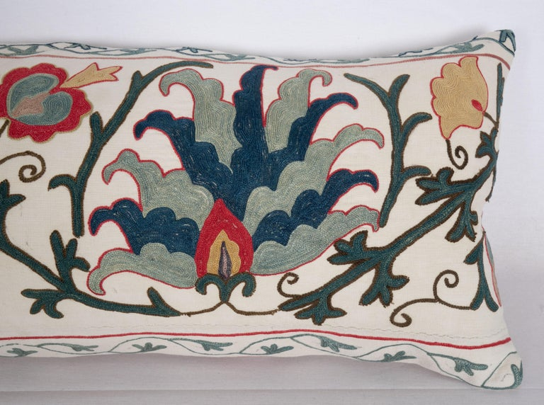 Antique Suzani Pillow Case Made from a 19th Century Suzani, Uzbekistan For Sale 1