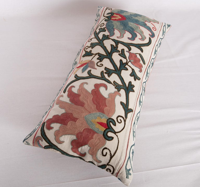 Antique Suzani Pillow Case Made from a 19th Century Suzani, Uzbekistan For Sale 2