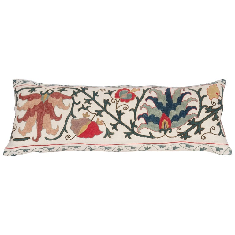 Antique Suzani Pillow Case Made from a 19th Century Suzani, Uzbekistan For Sale