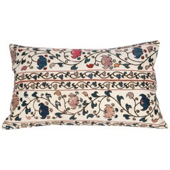 Antique Suzani Pillow Case Made from a 19th Century Uzbek Suzani