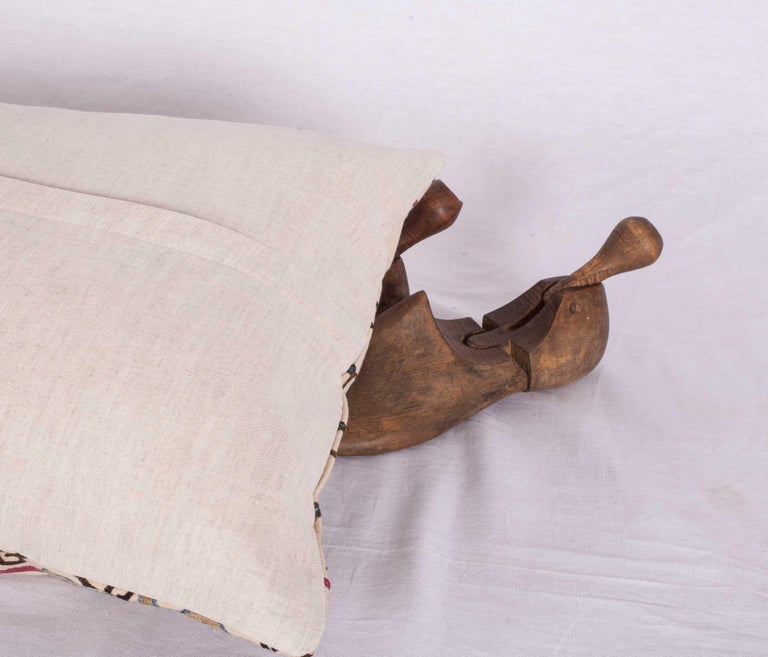 Cotton Antique Suzani Pillow Case Made from a Suzani from Bukhara Uzbekistan For Sale