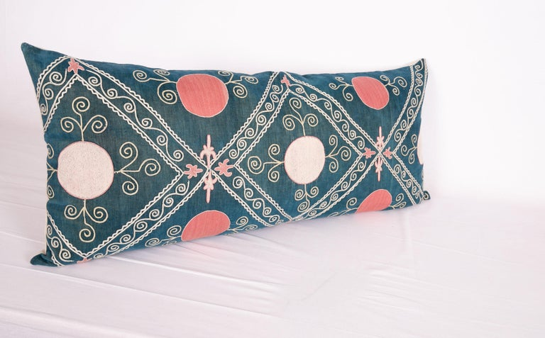 Antique Suzani Pillow Case Made from an Early 20th Century Velvet Suzani For Sale 1