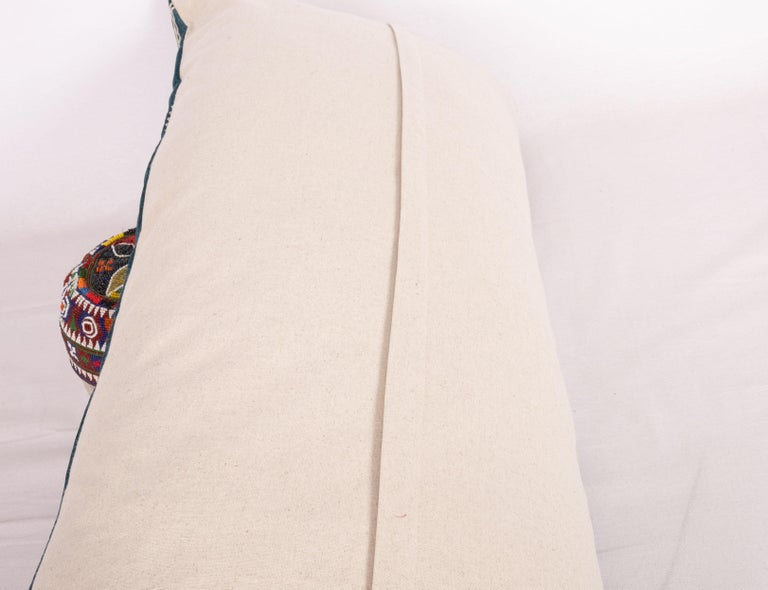Antique Suzani Pillow Case Made from an Early 20th Century Velvet Suzani For Sale 2