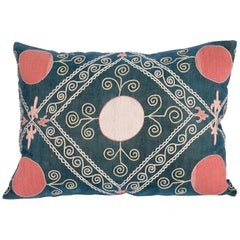 Antique Suzani Pillow Case Made from an Early 20th Century Velvet Suzani