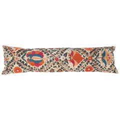 Antique Suzani Pillow Cases Fashioned from 19th Century Bukhara Suzani Fragment