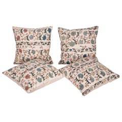Antique Suzani Pillow Cases Fashioned from a 19th Century Bukhara Suzani