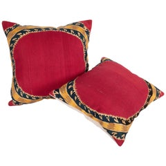 Antique Suzani Pillow Cases Made from a Tashkent Suzani, Late 19th Century