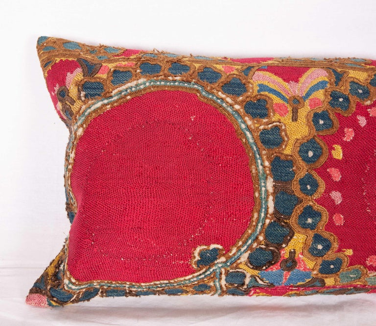 Uzbek Antique Suzani Pillow/Cushion Cover Fashioned from 19th Century Suzani For Sale
