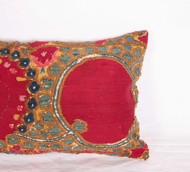 Embroidered Antique Suzani Pillow/Cushion Cover Fashioned from 19th Century Suzani For Sale