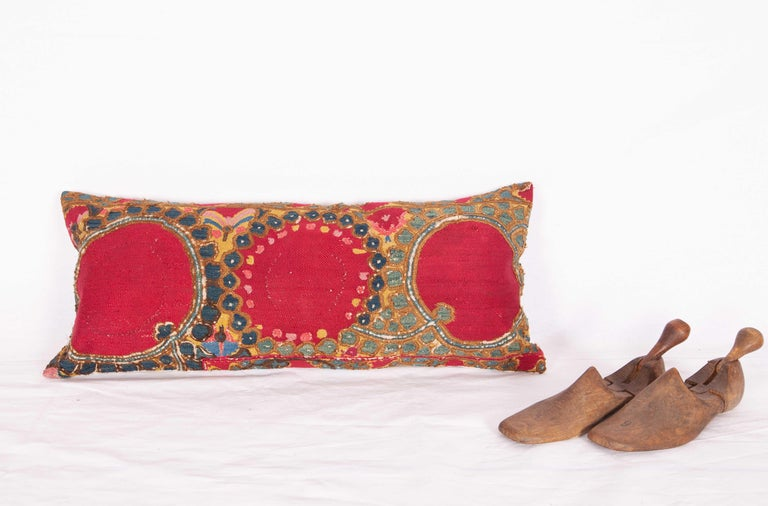 Antique Suzani Pillow/Cushion Cover Fashioned from 19th Century Suzani In Fair Condition For Sale In Istanbul, TR