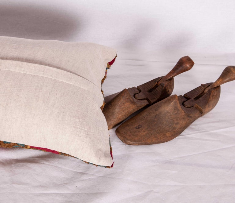 Silk Antique Suzani Pillow/Cushion Cover Fashioned from 19th Century Suzani For Sale