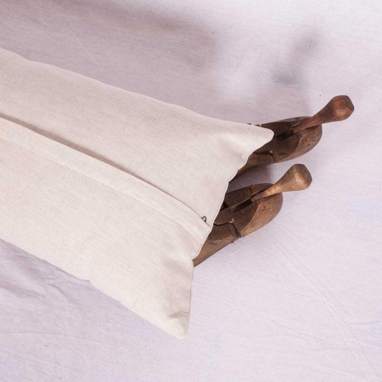 Cotton Antique Suzani Pillow Fashioned from a 19th Century Nurata Suzani For Sale