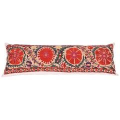 Antique Suzani Pillow Fashioned from a 19th Century, Nurata Suzani