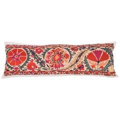 Antique Suzani Pillow Fashioned from a 19th Century Nurata Suzani