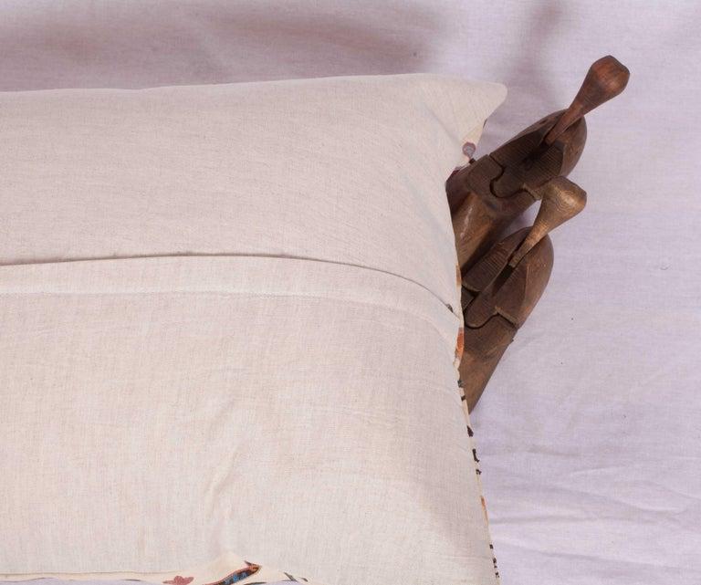 Antique Suzani Pillow Fashioned from a 19th Century Uzbek Bukhara Suzani For Sale 1