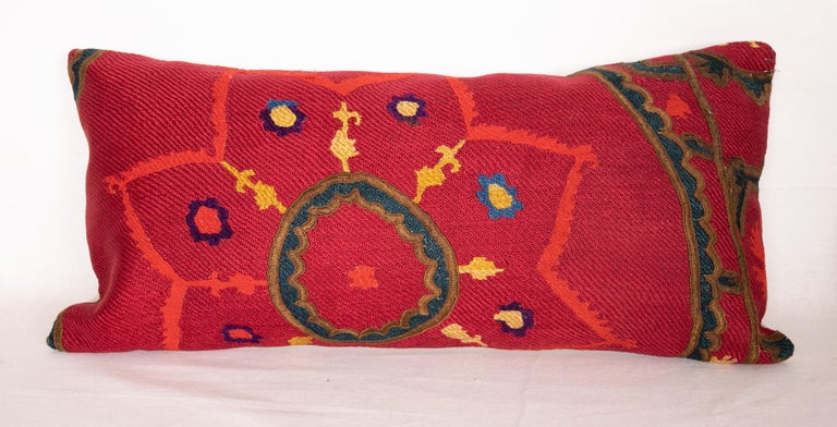 Embroidered Antique Suzani Pillows Made from a 19th Century Tashkent Suzani For Sale
